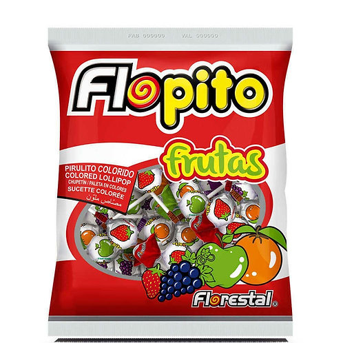 Pirulito Flopito Frutas 400g Florestal