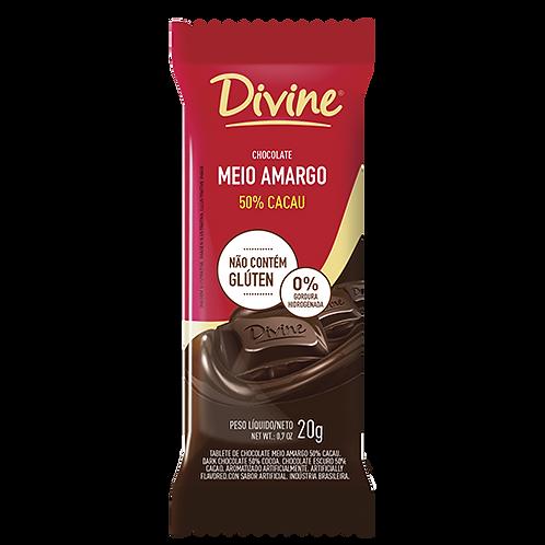 Display Chocolate Meio Amargo Divine com 12 unid. de 20g