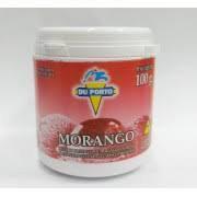 Pó Caseiro p/ Sorvete sabor Morango 100g Du Porto