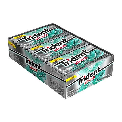 Trident Xfresh Herbal Display com 21 un