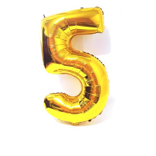 Balão Metalizado Dourado  N°5  - 40cm. Jupiter Party