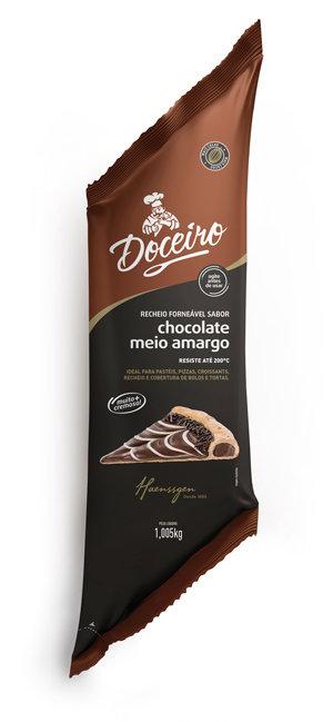 Recheio Forneável Doceiro Chocolate Meio Amargo 1,005 kg Haenssgen
