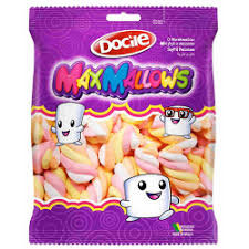 Marshmallow Maxmallows Twist Color 2 Morango 250g Docile