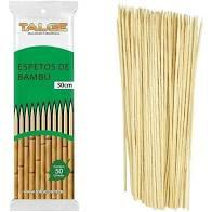 Espeto de Bambu 30 cm c/ 50 un. Talge