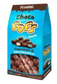 Marshamallow Drageado Chocolate  Fofs Mini  100g Florestal