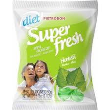 Bala Super Fresh Diet Hortelã 50g Pietrobon
