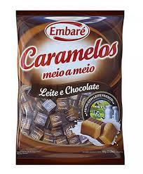 Bala de Caramelo Meio/Meio Leite e Chocolate 660g Embaré