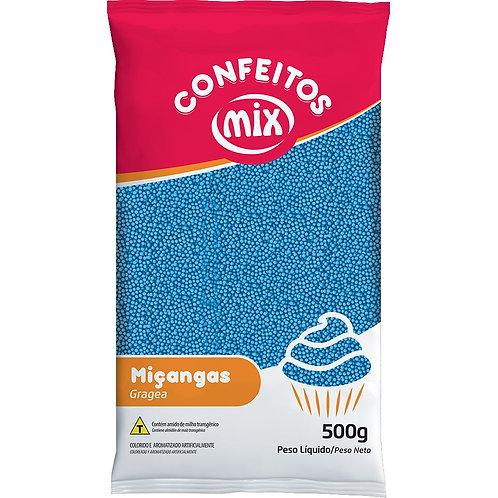 Confeito Miçanga Mix Azul 500g