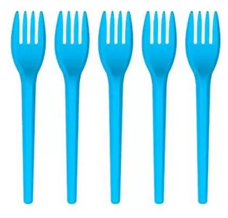 Garfo Sobremesa Azul Claroo 50 un - Plazapel