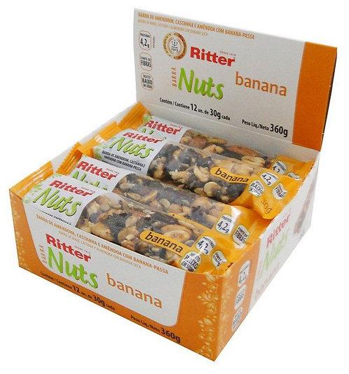 Barra de Nuts Ritter Banana com 12un de 30g