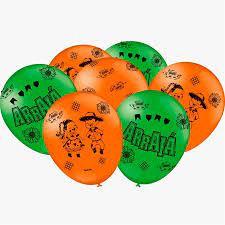 Balão Especial Arraiá Verde/Laranja com 25un Festcolor