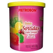 Bala Sortida 200g - Pote sem papel - Pietrobon