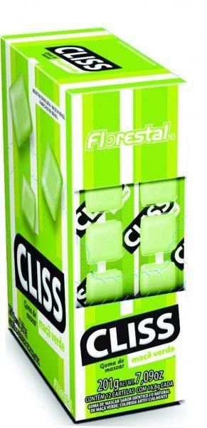 Chicle Cliss Cartela Maçã Verde 201g Florestal