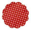 Fundo p/Doce 9cm Petit Poa Vermelho  c/100 un. Confesta