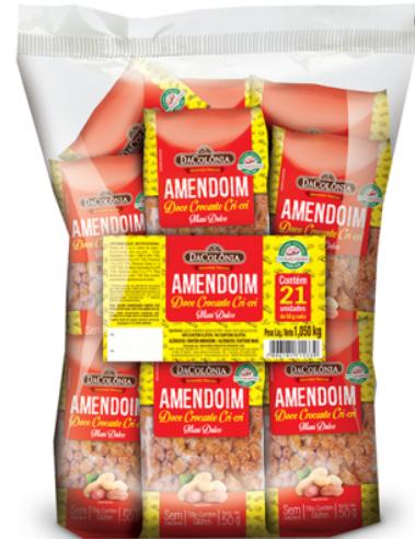 Amendoim Doce Crocante Cri-Cri 21X50g - DaColonia