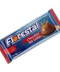 Barra de Chocolate Ao Leite  1,01Kg Florestal