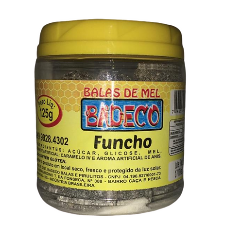 Balas de Mel c/ Funcho pote 125g Badeco
