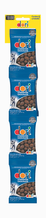 Cartela Amendoim Chocolate Conf 5x30g Dori