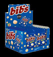 Bibs Chocolate Branco Display com 18un de 40g cada Neugebauer