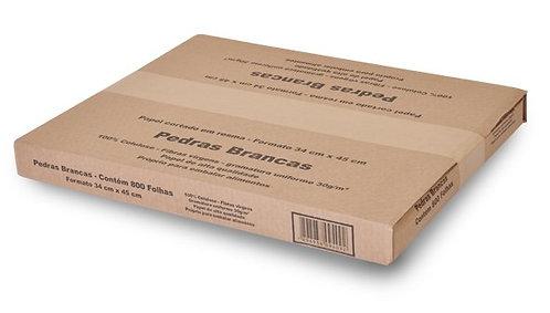 Papel Padaria Plastik Pedras Brancas 30g c/ 3 kg KR Distribuidora