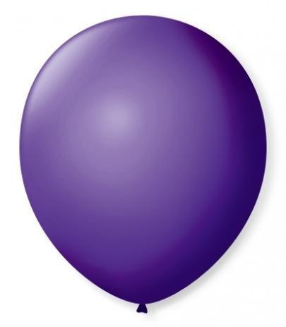 Balão  N°9 Roxo Uva - Pacote com 50un - Balões São Roque