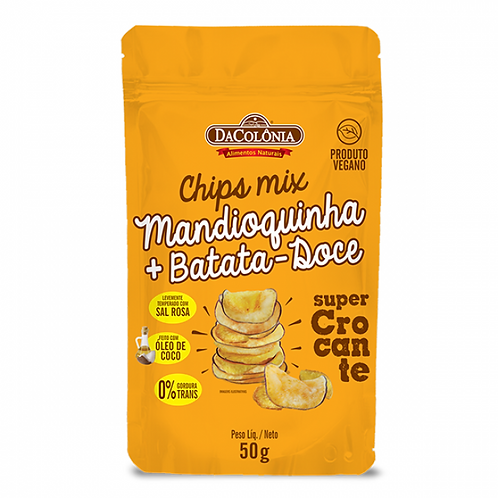 Chips Mix Mandioquinha + Batata Doce Da Colônia 50g