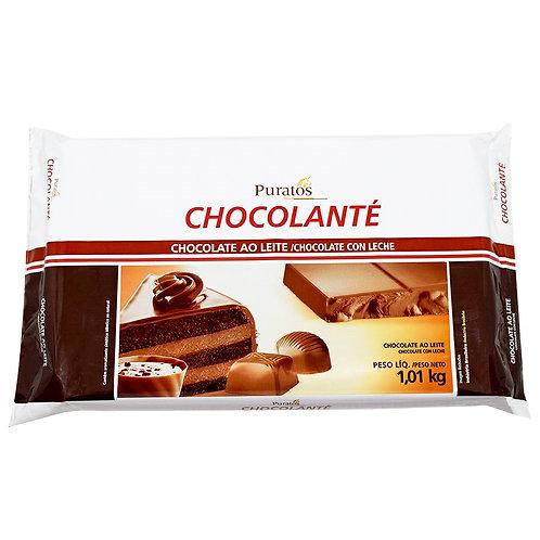 Chocolate Chocolanté Puratos Ao Leite 1,010kg