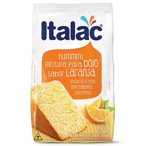 Mistura para Bolo sabor Laranja Italac 400g
