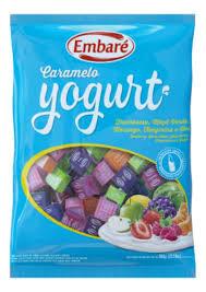 Bala Caramelo Iogurte Sortido Uva 660g Embaré