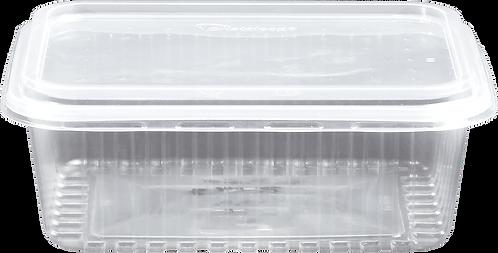 Kit PP Retangular 1000ml - KR1000 TR - Cristalcopo - Pacote com 25 unidades