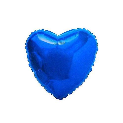 Balão Metalizado Coração Azul Royal - 3 Guris
