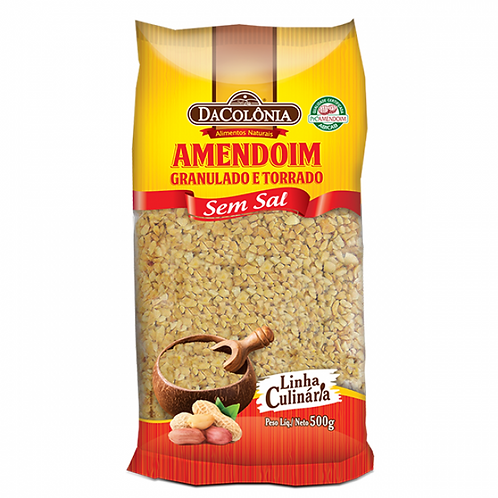 Amendoim Granulado Torrado Da Colônia 500g