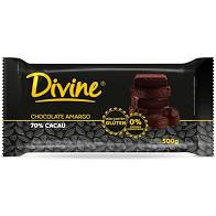 Barra Embalado Chocolate  70% Cacau  500g Divine