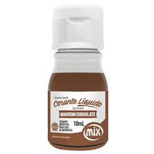 Corante Líquido Marrom Chocolate 10ml Mix
