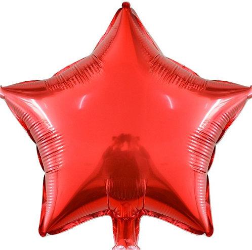 Balão Estrela Vermelho - 40cm - 3 Guris