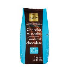 Chocolate em Pó 31,7% Cacau Barry 1kg