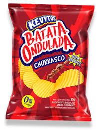 Batata Ondulada Churrasco 35g Kevytos