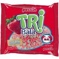 Bala Tri Bala Morango 500g Peccin