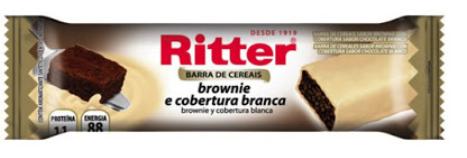Cereal em Barra Sabor Brownie com Chocolate Branco Unidade- Ritter