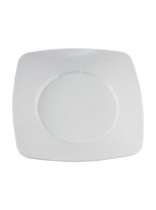 Pratos Plásticos Brancos 15cmx15xm Plazapel com 10 un