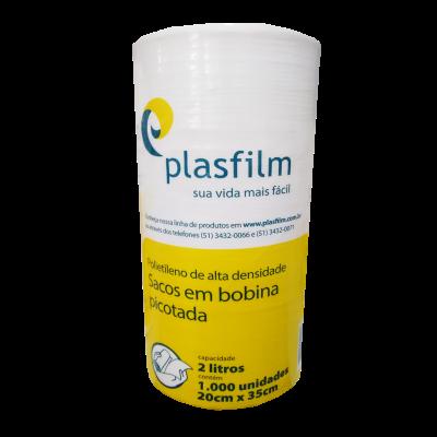 Bobina Picotada 2 Litros Plasfilm 20X35cm com 1000un