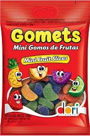 Bala de Goma Gomets Mini Gomos Frutas 100g Dori