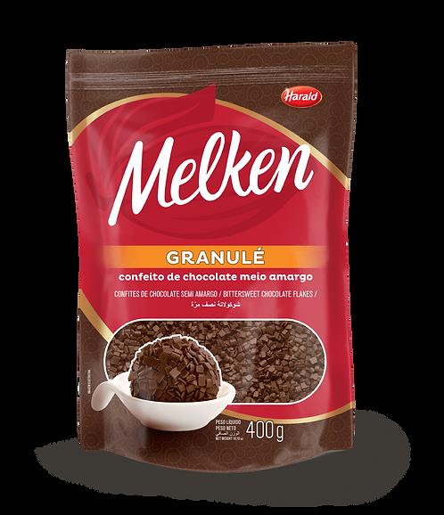 Granulé de Chocolate Meio Amargo Melken 400g