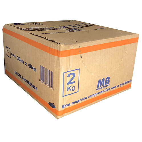 Caixa de Sacola 30x40 Bege com 2kg -MB Embalagens