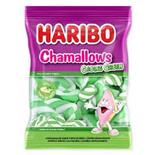 Marshmallow Chamallows Cables Green 250g Haribo