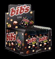 Bibs Chocolate Preto e Branco Display com 18un de 40g cada Neugebauer