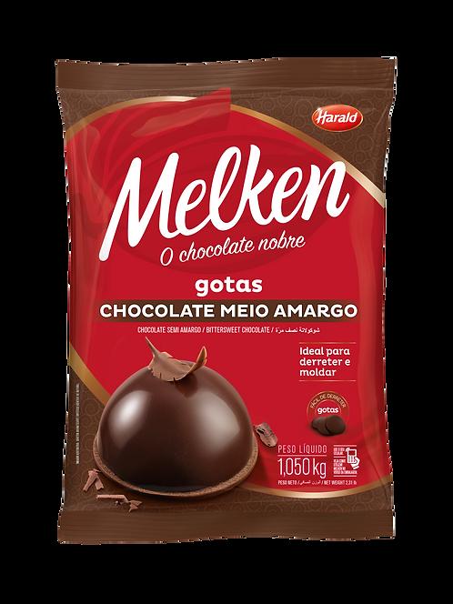 Chocolate em gotas Meio Amargo Melken Harald 1,050 kg