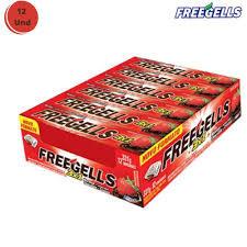 Drops Freegells Play Morango com Chocolate Display com 12un Riclan