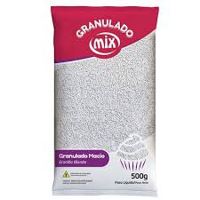 Confeito Granulado Macio Branco 500g Mix
