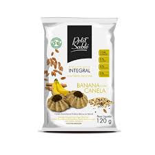Biscoito Vegano Integral  Doce Banana/Canela 120g Petit Sable